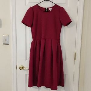 LuLaRoe Amelia dress L large raspberry pink